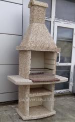 Барбекю, мангал, камин садовый из бетона