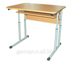 Table student's 1-seater regulated, an art.