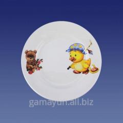 Plate nursery Duckling, bear cub of 175 mm, art.