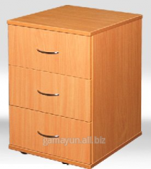 Bedside table with 3 boxes, an art. 001-00120