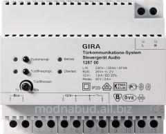 Audioon-door speakerphone power source