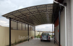 Canopies from metal automobile
