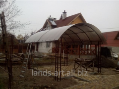 Canopies sun-protection metal