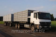Tipper body BRONTON-trailer grain. Loading and