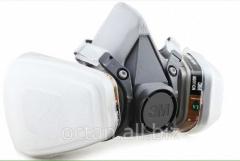 Half mask respirator 3M 6200 complete set. A mask