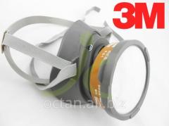 Полумаска респиратор 3М 3200 с угольным фильтром