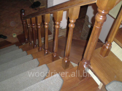 Oak stairs to the house