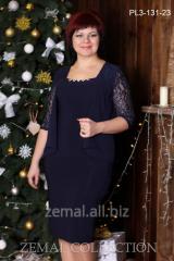 Платье PL3-131 праздничное, гипюр+шифон