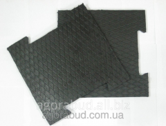 Rubber modular covering with the increased wear