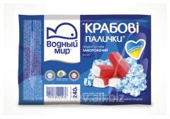 Crabsticks, volumes of packagings: 100 g, 200 g,