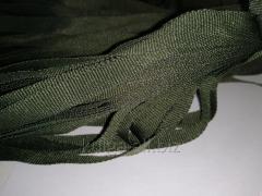 Тесьма репсовая 8 мм,  хаки