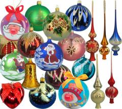 Glass Christmas-tree decorations, production