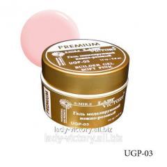 Pale pink leveling «Premium» series gel. UGP-03