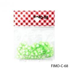 FIMO figures in the form of hearts of white-green