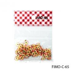 FIMO figures in the form of apple segments.