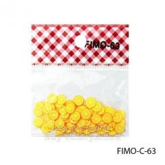 FIMO figures in the form of segments of orange of