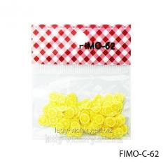 FIMO figures in the form of segments of lemon of