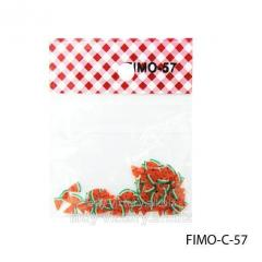 FIMO figures in the form of water-melon. FIMO-C-57