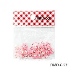 FIMO figures in the form of cat's muzzles of