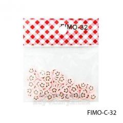 FIMO figures in the form of smilies of light pink