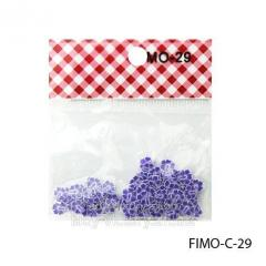 FIMO figures in the form of lilac flowers.