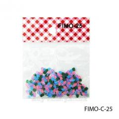 FIMO figures in the form of small multi-colored
