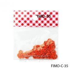 FIMO figures in the form of smilies. FIMO-C-35