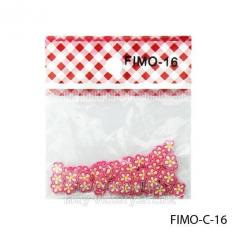 FIMO figures in the form of white-pink florets.