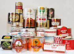 Липкие этикетки для продуктов питания, ...