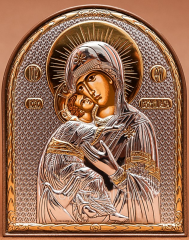 Icon of the mother of God Vladimirskaya Silver