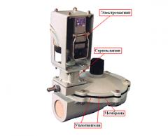 Клапан электромагнитный газовый КГ-40