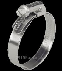 Collar of long steel galvanized, 90-110 mm.