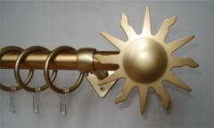 Карнизы металлические Алабама золото с