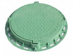 Hatch polymeric sewer Sadovyi (green)