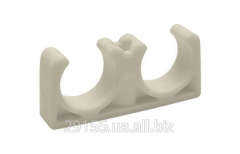 Clip for polypropylene pipe of double 20 mm
