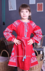 Children's dresses embroidered with