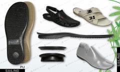 Las suelas de calzado de hombre, femenino, el