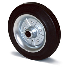 Rubber wheels for trash cans