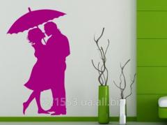 """Наклейка """"Влюбленные под зонтом"""""""