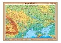 Карта Украины физическая  М1: 2 200 000