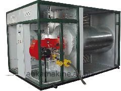 Теплогенератор горячего воздуха на твердом топливе