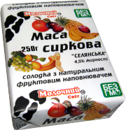 The COUNTRY curds of 1 kg sweet with a natural