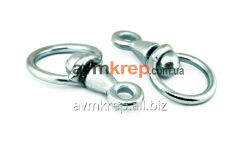 Ring with the swivel from 4 mm to 10 mm