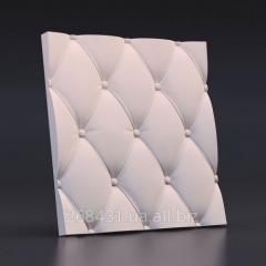 Настенные декоративные 3D/3д панели гипсовые Кожа