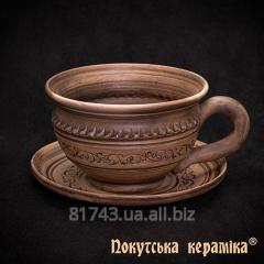 Shlyakhtyansk's cup 0,25l z ø12см saucer,