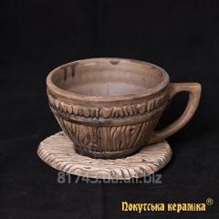 Bondarsk's cup 0,33l z ø12см saucer, art.bf14