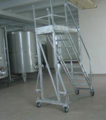 Металлоконструкции из нержавеющей стали, лестницы,