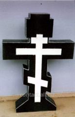 Granite cross on a grave