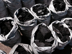 Charcoal from high-quality raw materials