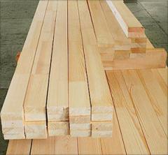 Logs on floor